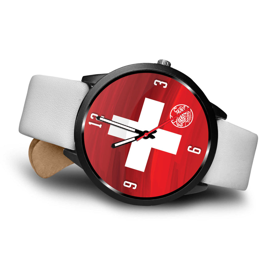 We are SWITZERLAND MyRootz Society Leather Watch
