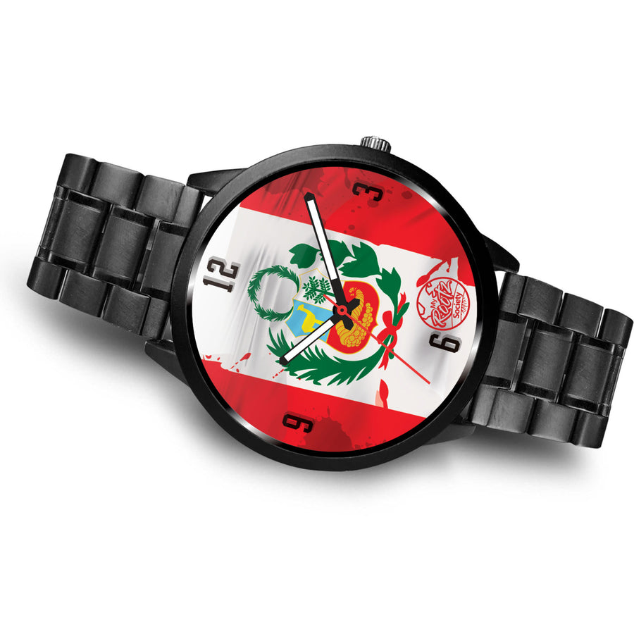 Somos PERU MyRootz Society Stainless Steel Watch