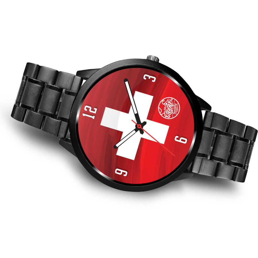 We are SWITZERLAND MyRootz Society Stainless Steel Watch
