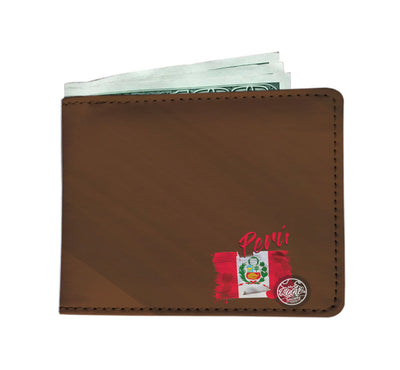 Mi Peru MyRootz Society Men's RFID Shield Brown Wallet