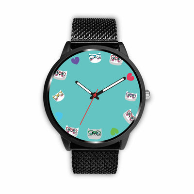 Love Smarty Cats Watch Light Blue