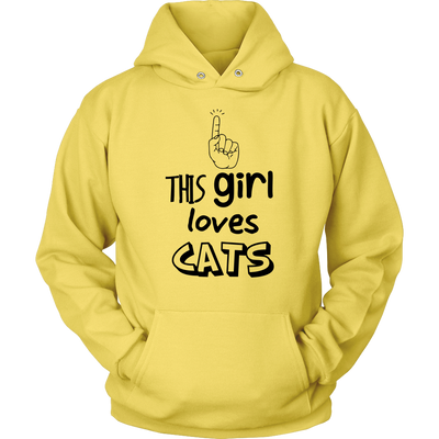 This girl Loves Cats - Unisex Hoodie