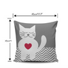 Heart Warming CAT Pillow Cover