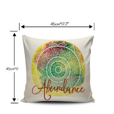 Good Vibes High Vibration Mandala Pillow Covers - Specials 50% OFF