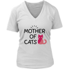 Mother Of Cats - Women's V-Neck T-Shirt