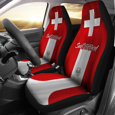 We are SWITZERLAND MyRootz Society Car Seat Cover SET