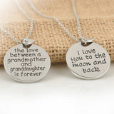 The Love Between Grandma and Granddaughter is forever Pendant Necklace