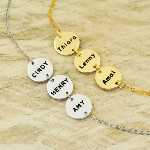Custom Personalized name bracelet for family friends mom dad