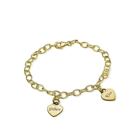 Tailored Cutom Personalized Name Heart Pending Bracelets