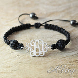 Custom Monogram personalized initials weave bracelet