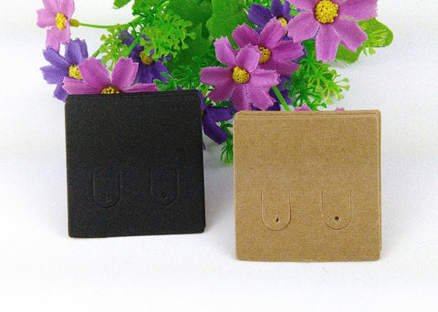 200pcs lot Kraft Earring cards Blank Earring cards kraft paper Jewelry Display Cards Jewelry earrings price tags