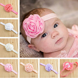 14pcs Satin Rose Big Hair band head band for little girl baby kids toddler infant