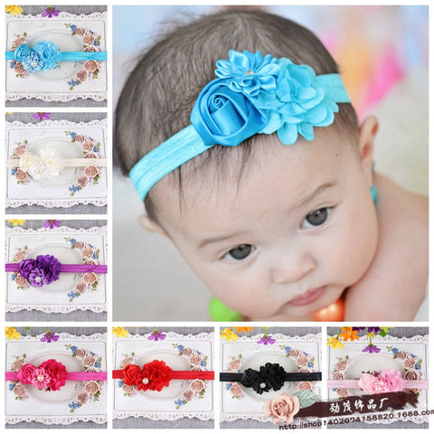 10 x Satin Hair Headband Satin Hair band for kids babies baby red blue black purple pink white