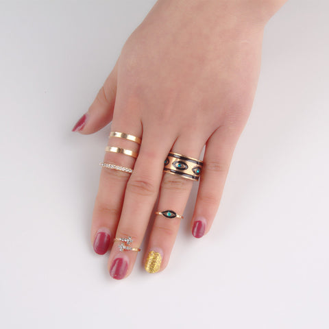 Hollow Out Finger Knuckle Ring Set