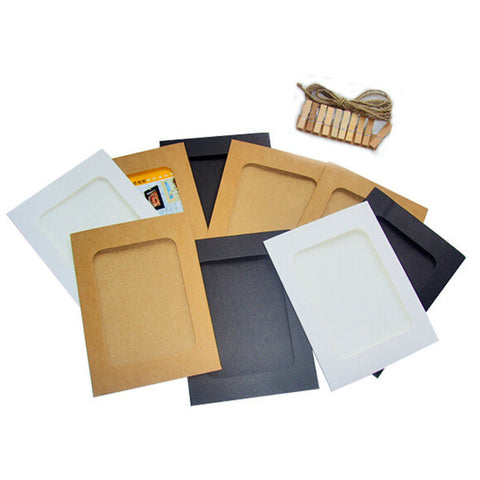 10pcs 6'' Picture Lovely Paper Frame Film Memorial Photo Album Paper