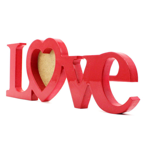 "Red ""LOVE"" Style Desktop Hanging Photo Frame"