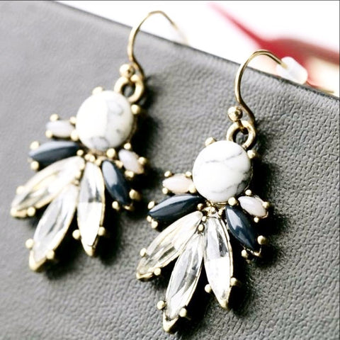 Crystal Faux Stone Earrings