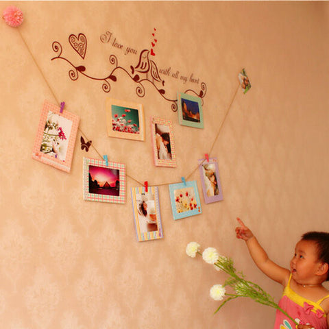 "DIY Home Party Decor 6"" Hanging Memory Wall Picture Paper"