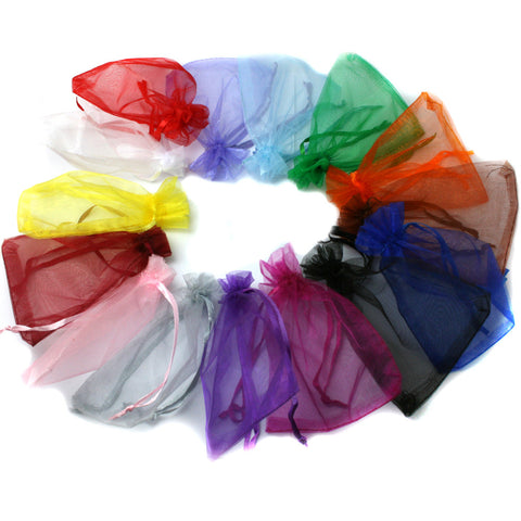 Mix Colors Jewelry Packing Drawable Organza Bags