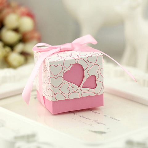 100pcs Square Wedding Favor Boxes Party Supplies