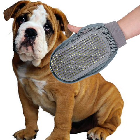 Pet Grooming Glove Bath Mitt Brush Comb and Dog Cleaning Massage