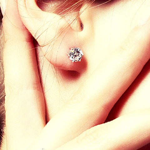 Diamond Crystal Stud Earrings