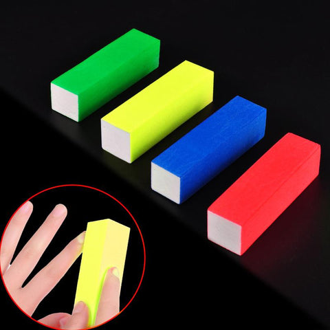 4 Pcs Fluorescent Color Buffing Sanding Buffer Block Manicure Files
