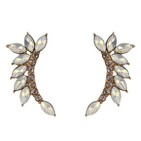 Ethnic Vintage Crystal Leaves