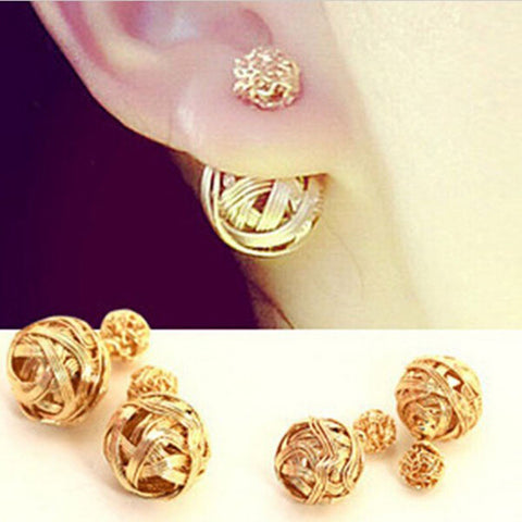 Bird Nest Golden Earrings