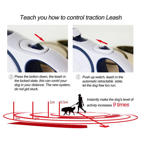 Pet Retractable Flexible Dog Leash