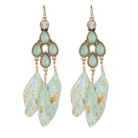 Stains of Yellow in Green - Earrings