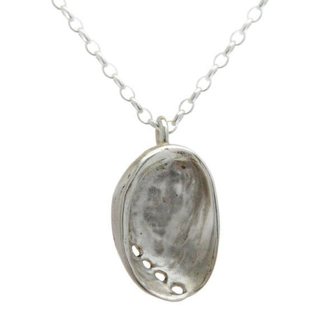 Baby Paua Necklace (Sterling Silver)