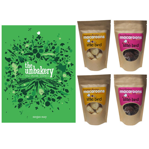 The Unbakery Book Gift Pack II (Book, 4x Macaroons)