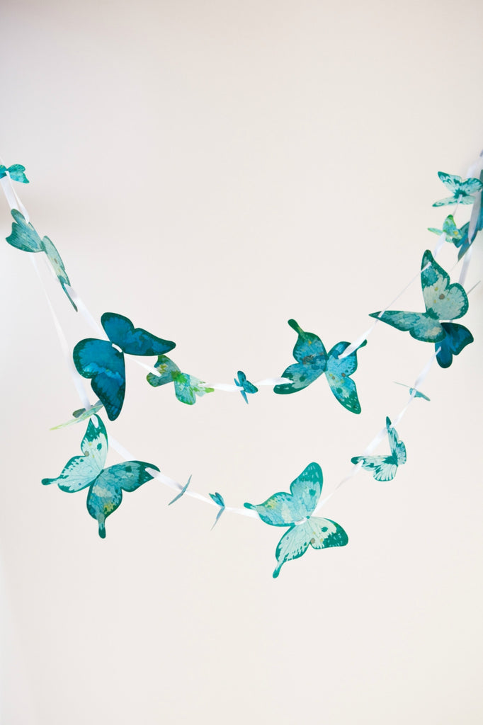 Make your own Super Simple Butterfly Garland - Green