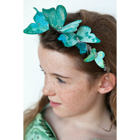 Make your own Beautiful Butterfly Headband - Green