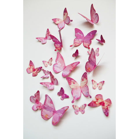 Beautiful Butterflies - Pink