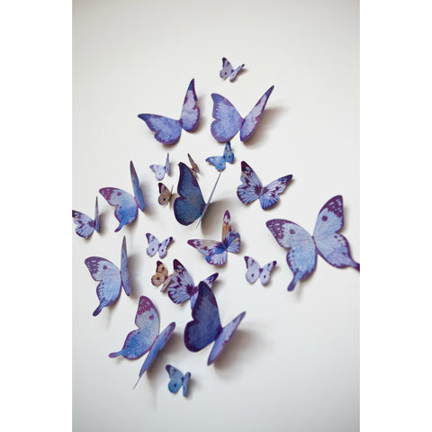 Beautiful Butterflies - Purple