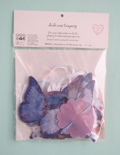 Make your own Super Simple Butterfly Garland - Purple