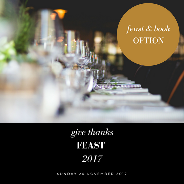 2017 Of Kin Thanks Giving Dinner Feast with The Leap Stories Book