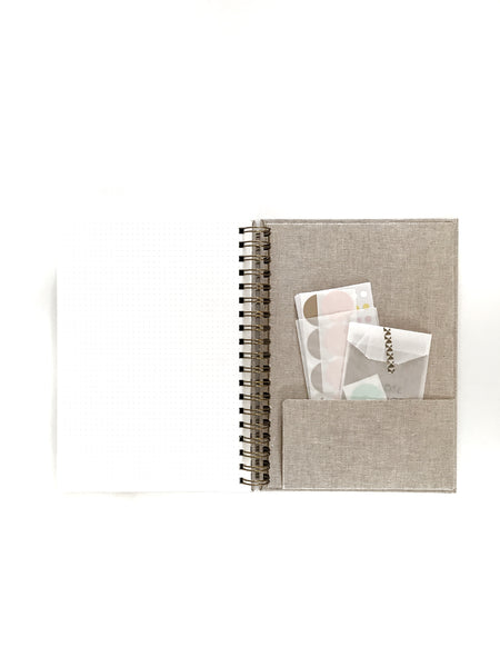 2018 Day of Possible Diary Designer Limited Edition Linen Inside Back Cover Pocket with Stickers
