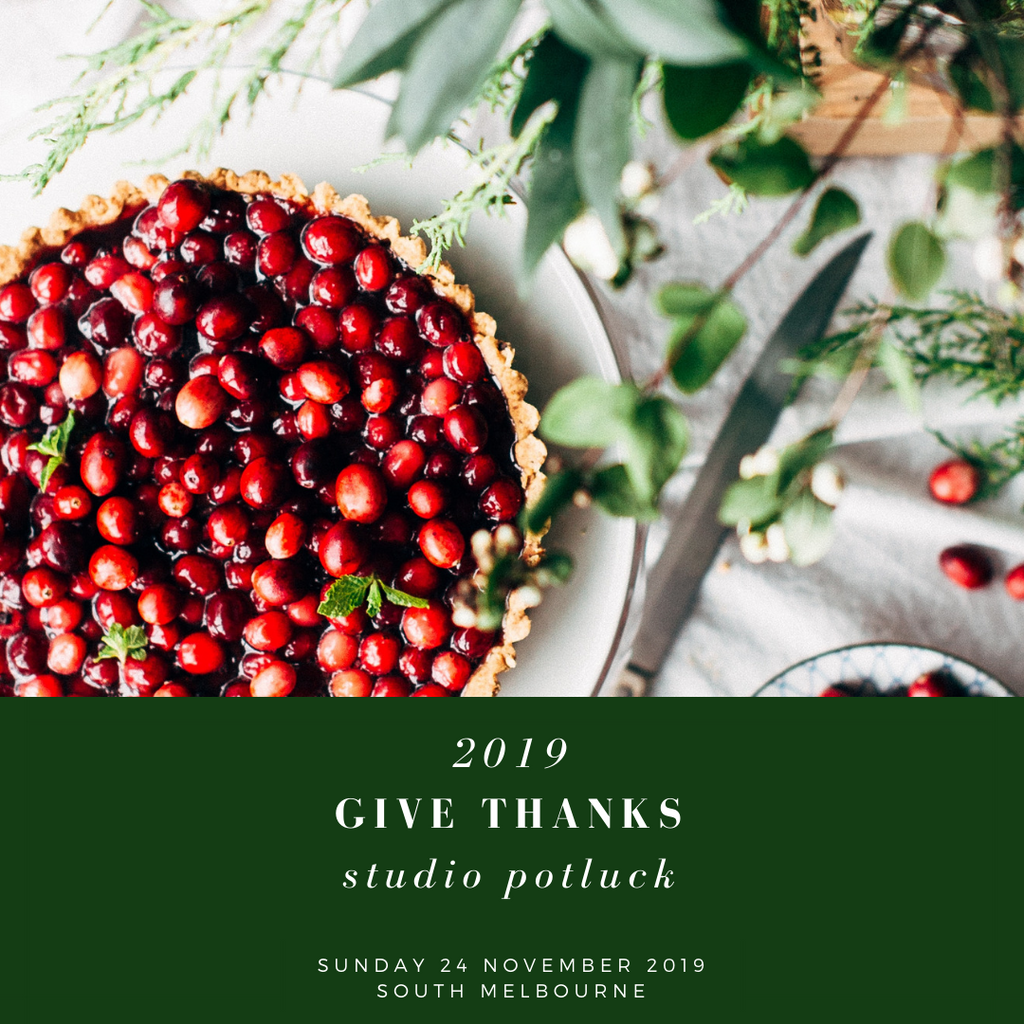 2019 Of Kin Give Thanks Studio Potluck
