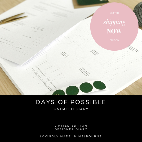 Undated weekly and monthly diary. Simple, minimal, designer, limited edition