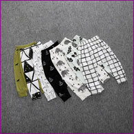 0-4Y Kids Fashion Autumn Baby Arrow Panda Harem Pants Boys Girls 100%Cotton Leggings Boy's Trousers Clothes