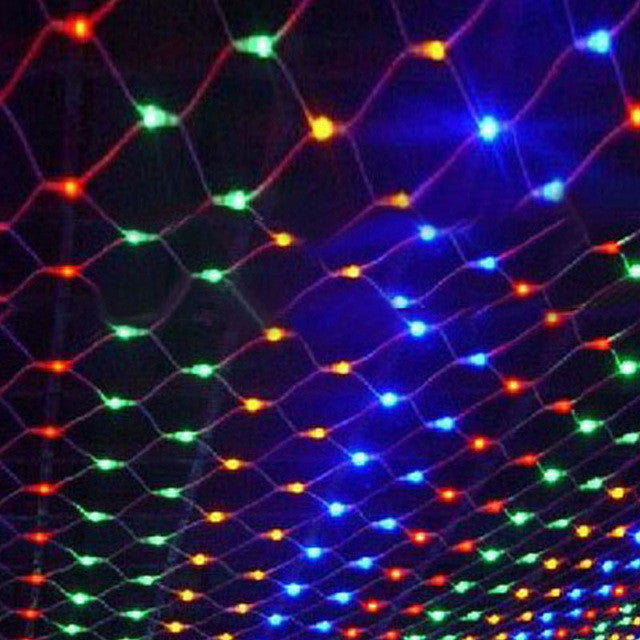 1.5Mx1.5M 96 LED 220V Net Mesh String Light  Led Strip Christmas/Wedding/Fairy/Gaden/Decorative Lights Holiday Lighting Garland