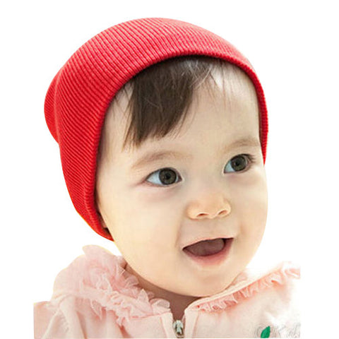 . New Infant Cotton Crochet  Knitted Beanie Hat Soft