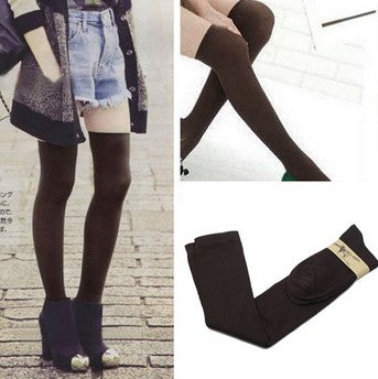 e5feb9418 ... 1 Pair 5 Solid Colors Fashion Sexy Warm Thigh High Over the Knee Socks  Long Cotton ...