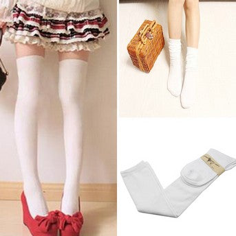 53c92bb70 ... 1 Pair 5 Solid Colors Fashion Sexy Warm Thigh High Over the Knee Socks  Long Cotton