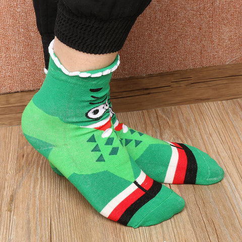 1 Pair Fashion Autumn Winter Warm Women Lady Girl Cotton Cartoon Hosiery Casual High Socks 5 Styles