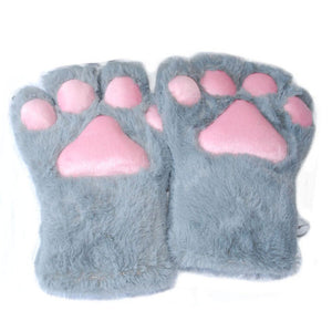 Fashion Claw Party Anime Cat Kitten Paw Gloves Cosplay Costume Plush