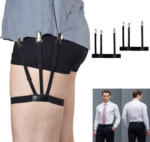 1 Pair Mens Shirt Stays Garters Holder Adjustable Shirt Holders Resistance Belt Shirt Suspenders For Men Locking Clamps#0921